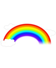 Over The Rainbow Peel and Stick Giant Wall Decal
