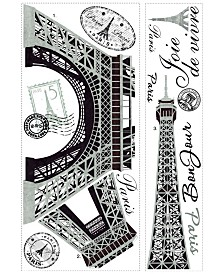 York Wallcoverings Eiffel Tower Peel and Stick Giant Wall Decal
