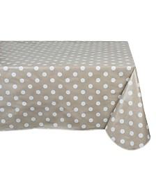 """Design Imports Polka Dot Vinyl Tablecloth 60"""" x 102"""