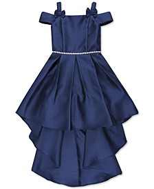 Big Girls Plus Pleated High-Low Hem Dress