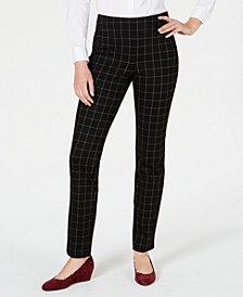 Cambridge Windowpane-Print Slim-Leg Pants, Created for Macy's