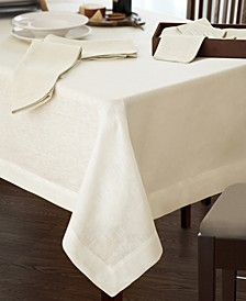 "La Classica Luxury Linen Fabric Tablecloth, 70""x146"""