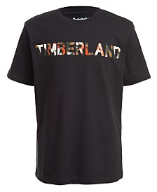 Timberland Big Boys Camo Logo T-Shirt