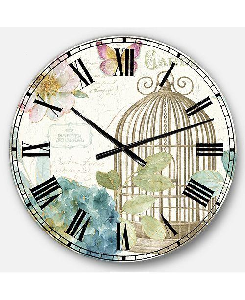 Designart Traditional Oversized Metal Wall Clock