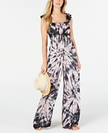 Raviya Tie-Dye Cover-Up Jumpsuit