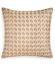 """Deco Embroidery 18"""" X 18"""" Decorative Pillow, Created for Macy's"""