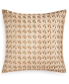 """Hotel Collection Deco Embroidery 18"""" X 18"""" Decorative Pillow"""