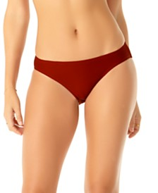 Anne Cole Studio Solid Goddess Ribbed Bikini Bottoms
