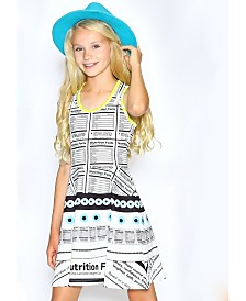 Lanoosh Little Girls Fit and Flare Printed Dress