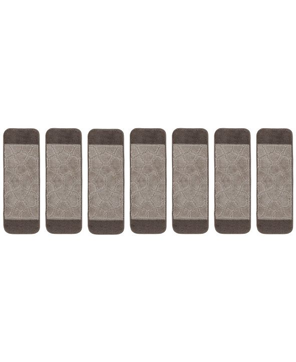 "Ottomanson Softy Collection Non-Slip Rubber Backing Stair Tread Pack of 7, 9"" x 26"""