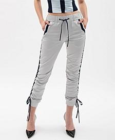 Silver Drawstring Track Pants