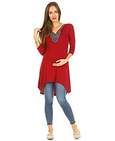 Maternity Calla Embellished Tunic Top
