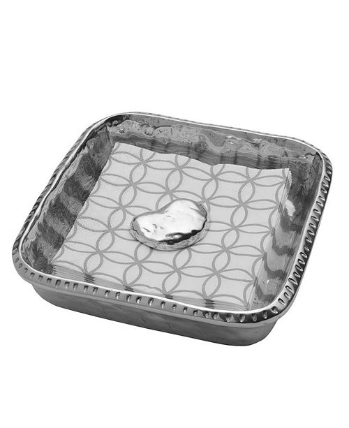 Wilton Armetale River Rock Napkin Box With Weight