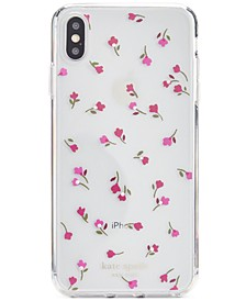 Jeweled Meadow Clear iPhone XS Case