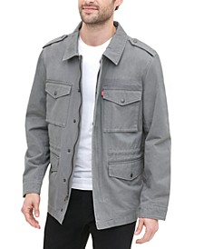 Men's 4-Pocket Logo-Print Field Jacket