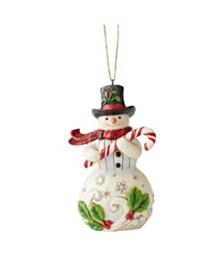 Jim Shore Snowman w/ Candy Cane Ornament