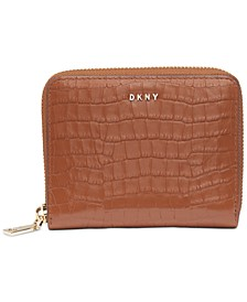 Bryant Croc Zip Around Leather Wallet, Created for Macy's