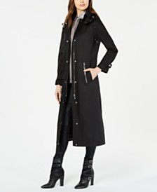 Calvin Klein Maxi Hooded Raincoat
