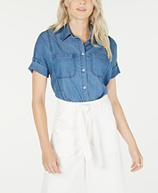 Boxy Button-Front Shirt