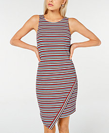 BCX Juniors' Striped Asymmetrical Tank Dress