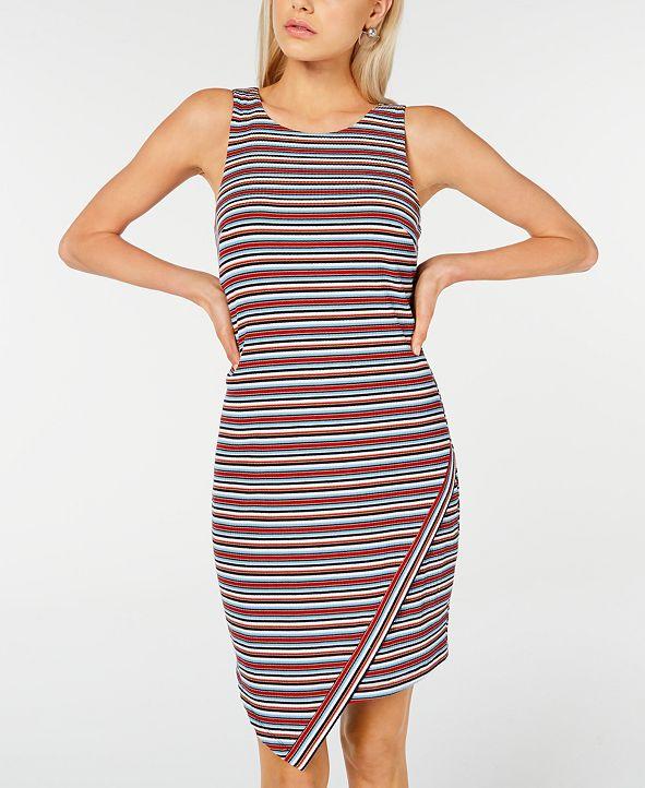 BCX Juniors' Striped Asymmetrical Tank Dress