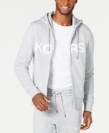 Michael Kors Men's Logo Fleece Full-Zip Hoodie, Created for Macy's