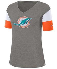 Women's Miami Dolphins Tri-Fan T-Shirt