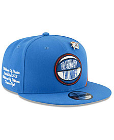 New Era Big Boys Oklahoma City Thunder 2019 On-Court Collection 9FIFTY Snapback Cap