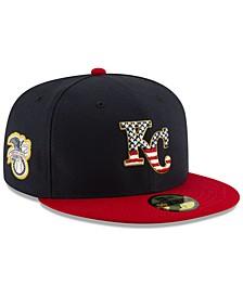 Kansas City Royals Stars and Stripes 59FIFTY Cap