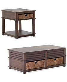 Strickland Table Furniture, 2-Pc. Set (Cocktail Table & End Table)