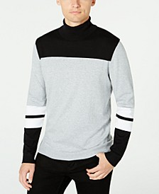 Men's Blocked Turtleneck Sweater, Created for Macy's