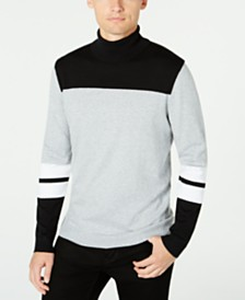 Alfani Men's Blocked Turtleneck Sweater, Created for Macy's
