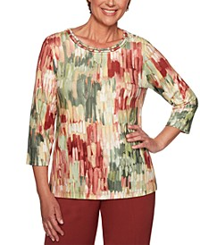 Cedar Canyon Embellished Graphic-Print Knit Top