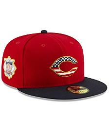 New Era Boys' Cincinnati Reds Stars and Stripes 59FIFTY Cap