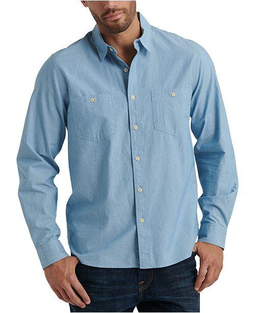Lucky Brand Men's Regular-Fit Stretch Chambray Work Shirt