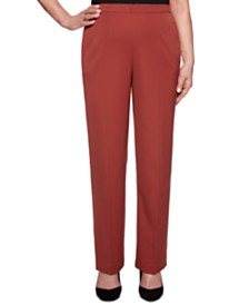 Alfred Dunner Cedar Canyon Twill Straight-Leg Pull-On Pants