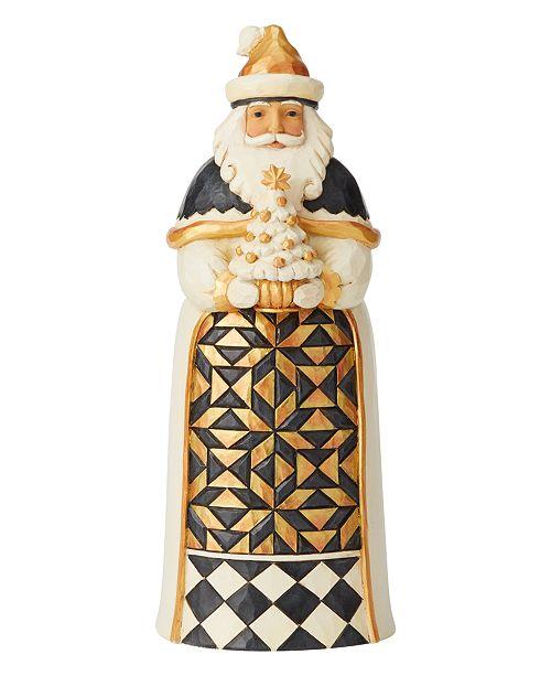 Enesco Jim Shore Black & Gold Santa