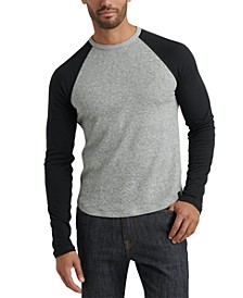 Men's Colorblocked Double-Knit Raglan T-Shirt