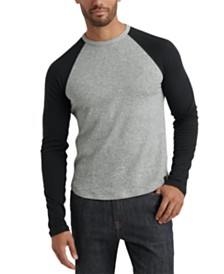 Lucky Brand Men's Colorblocked Double-Knit Raglan T-Shirt