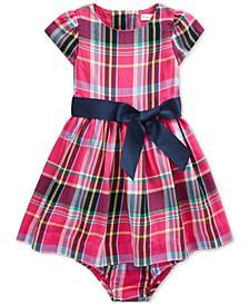 Baby Girls Plaid Cotton Dress
