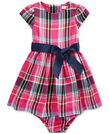 Polo Ralph Lauren Baby Girls Plaid Cotton Dress
