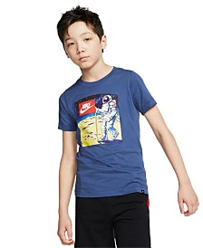 Nike Big Boys Out of This World Moon Man Graphic T-Shirt