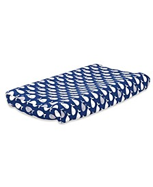 Navy Whale Changing Pad Cover