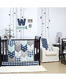 The Peanutshell Woodland Trail 4-Piece Crib Bedding Set