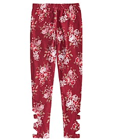 Big Girls Floral-Print Cage Leggings, Created for Macy's