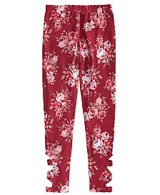 Epic Threads Big Girls Floral-Print Cage Leggings, Created for Macy's