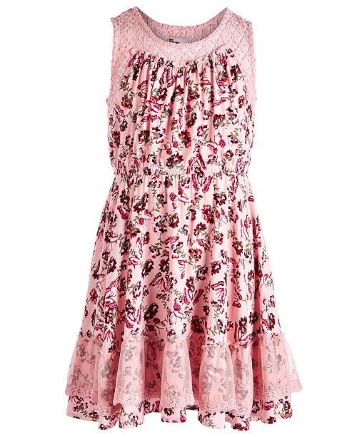Epic Threads Big Girls Butterfly Challis Dress, Created for Macy's