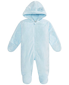 First Impressions Baby Boys & Girls Hooded Footed Faux-Fur Bunting Snowsuit, Created for Macy's