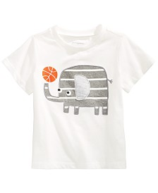 First Impressions Baby Boys Cotton Elephant T-Shirt, Created for Macy's