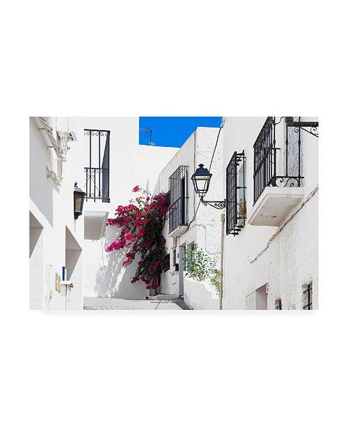 "Trademark Global Philippe Hugonnard Made in Spain Mojacar White Street II Canvas Art - 36.5"" x 48"""